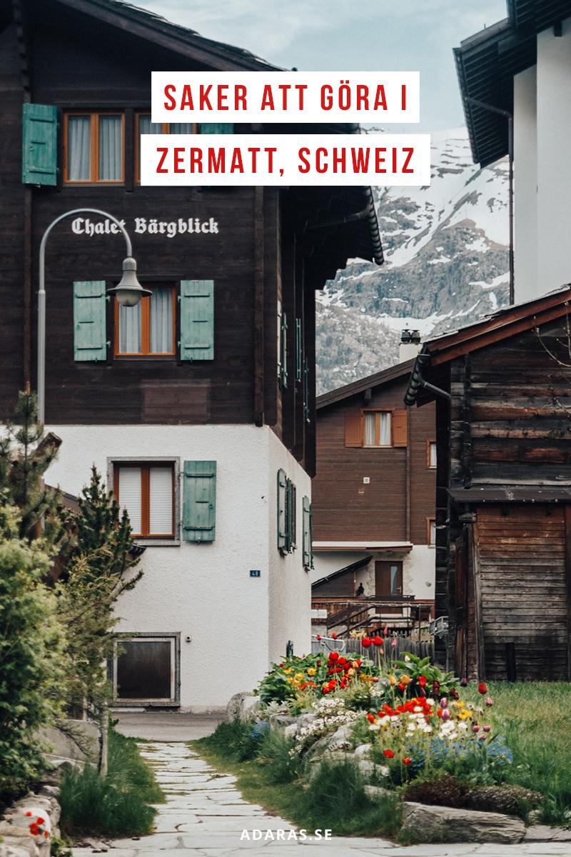 Saker att göra i Zermatt, Schweiz
