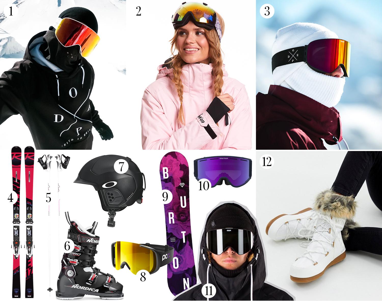 Alpinutrustning - Goggles, slalomskidor, snowboard & pjäxor