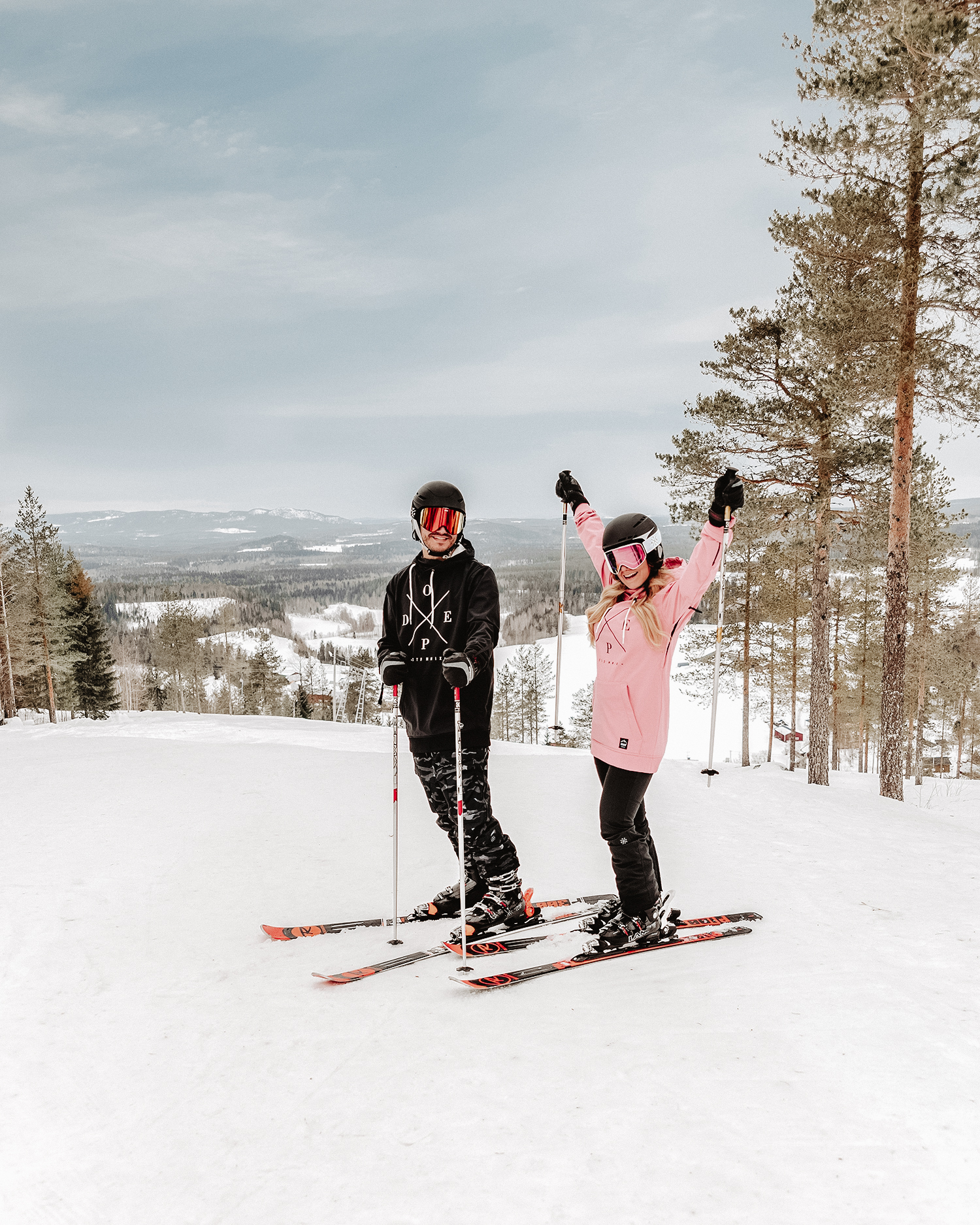 Dope Snowboardjacka & goggles