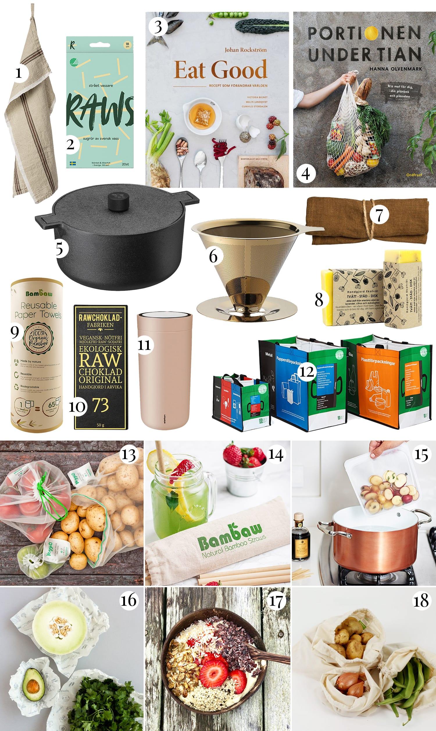 Hållbara julklappar för kök & matlagning |Julklappstips 2019