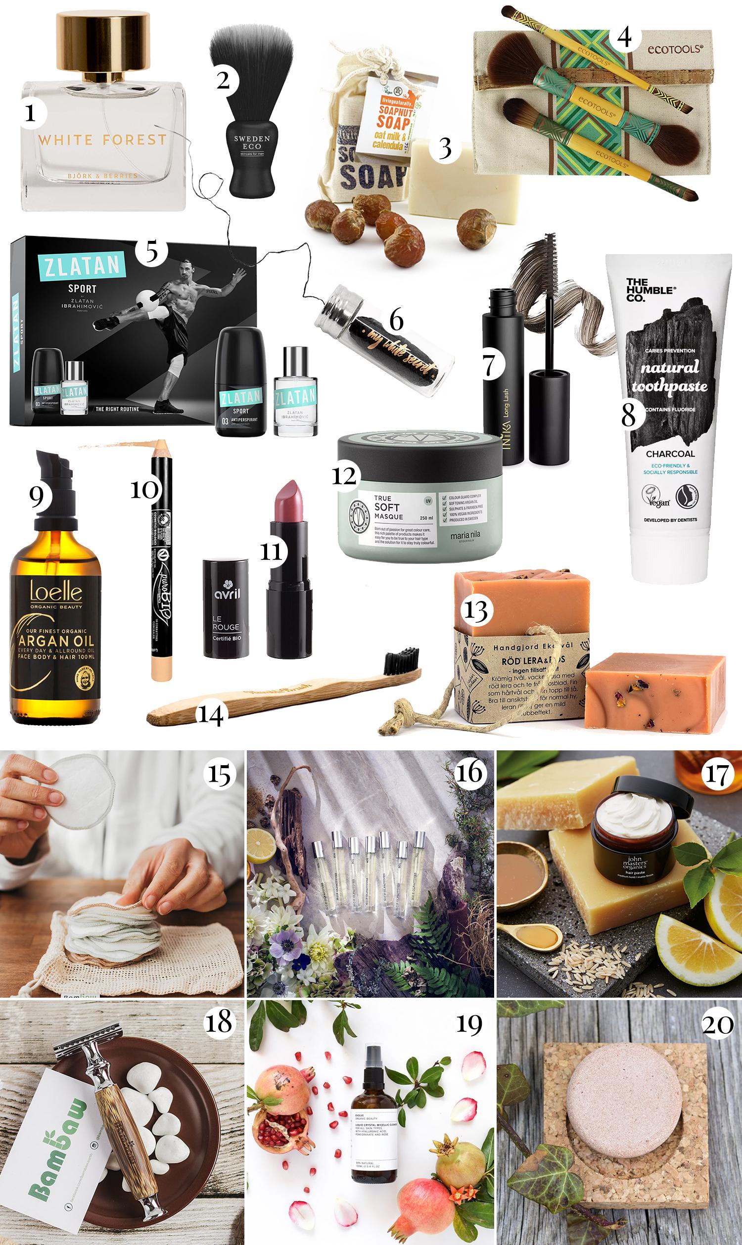 Hållbara skönhetsprodukter & makeup |Julklappstips 2019
