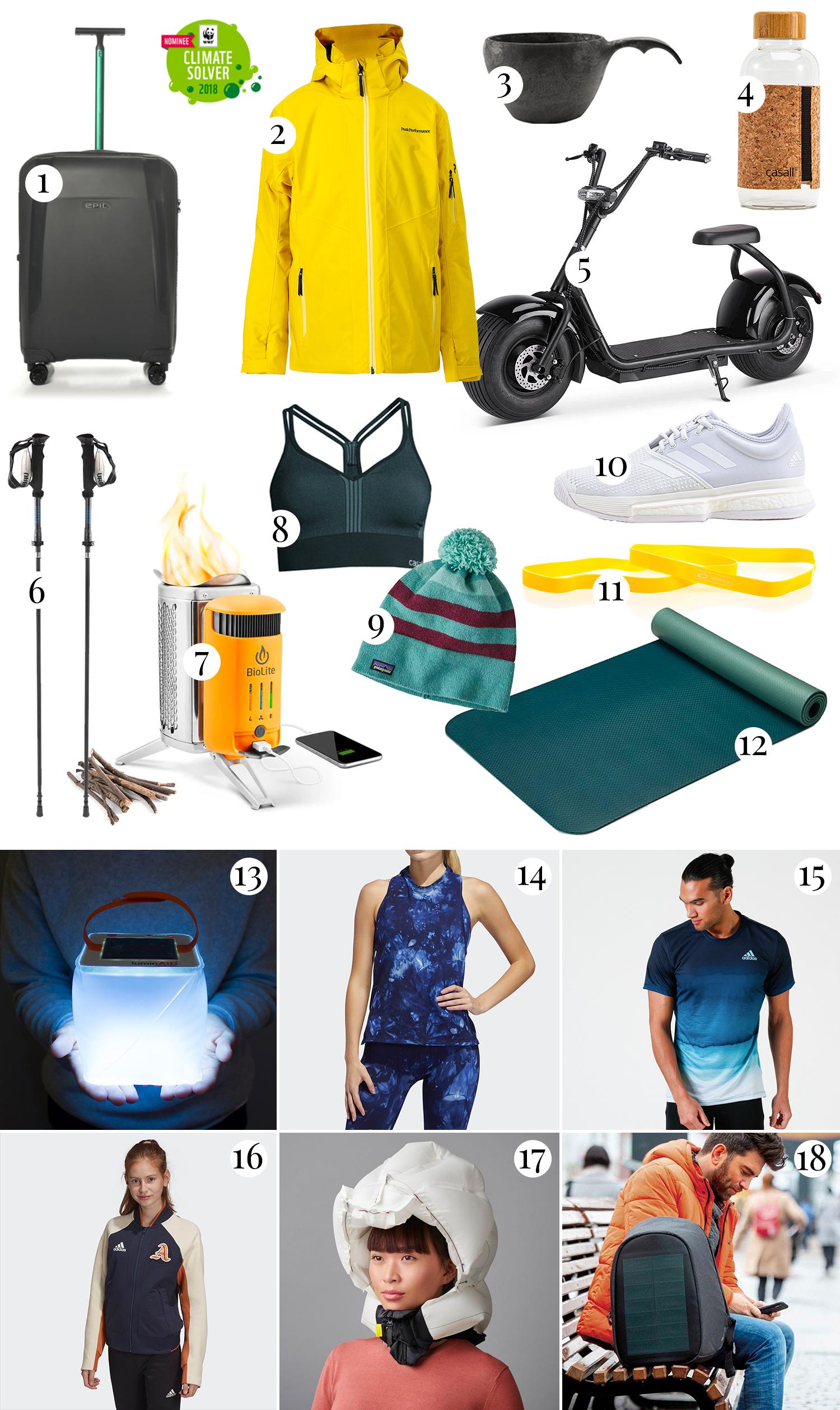 Medvetna träningskläder & julklappstips inom outdoor & resor