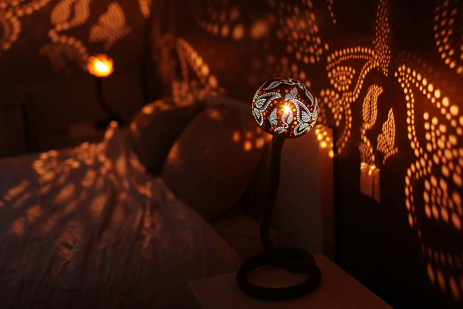 Handgjord magisk lampa från Nymphs Workshop