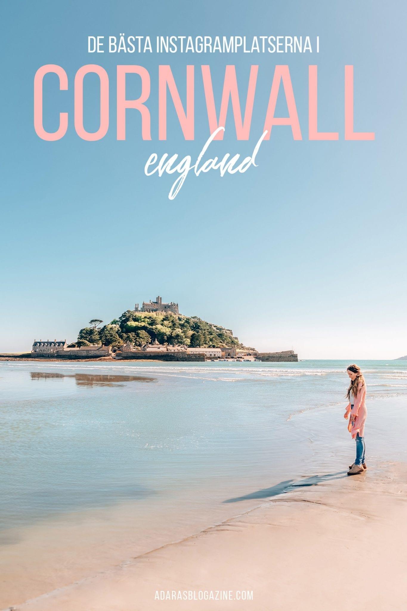 Fantastiska Instagramplatser i Cornwall, England, Storbritannien