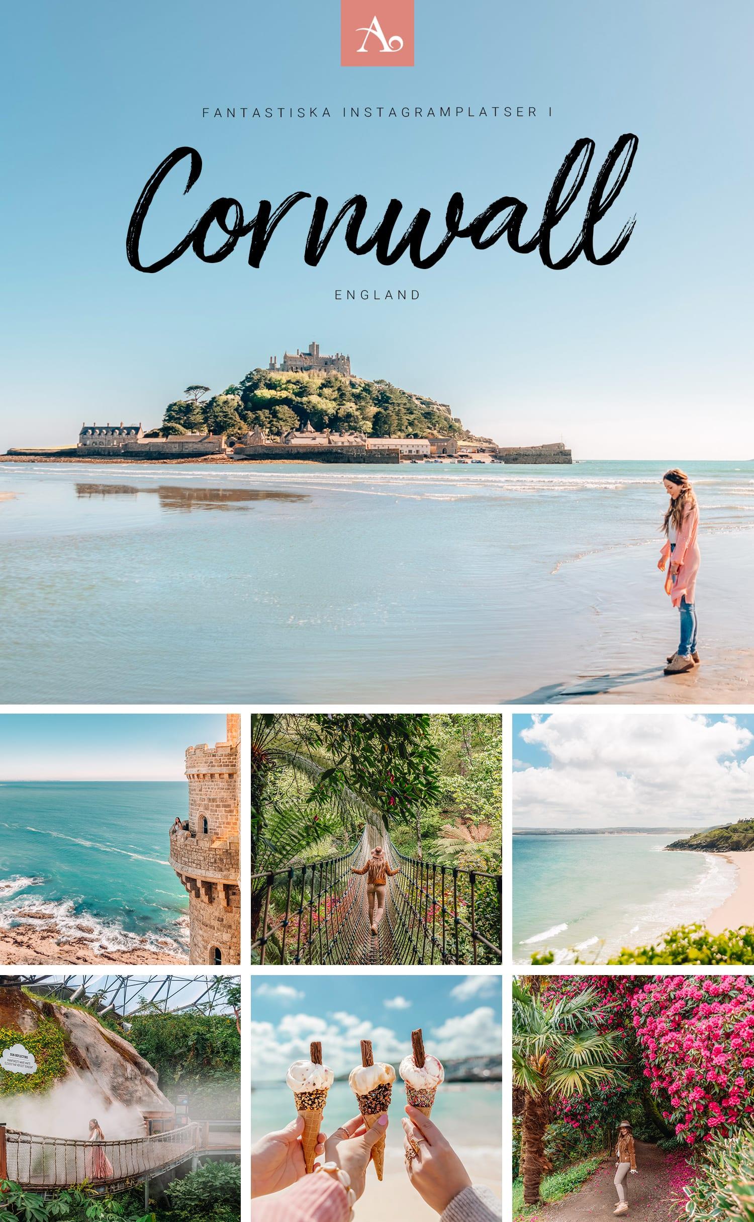 Fantastiska Instagramplatser i Cornwall, England