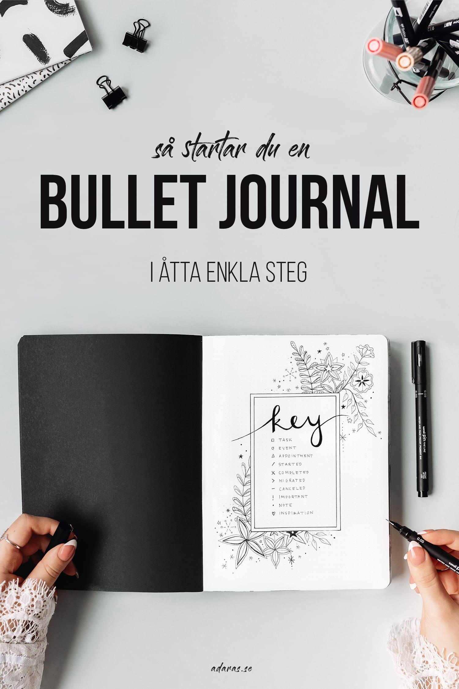GUIDE: Så startar du en Bullet journal - i åtta enkla steg