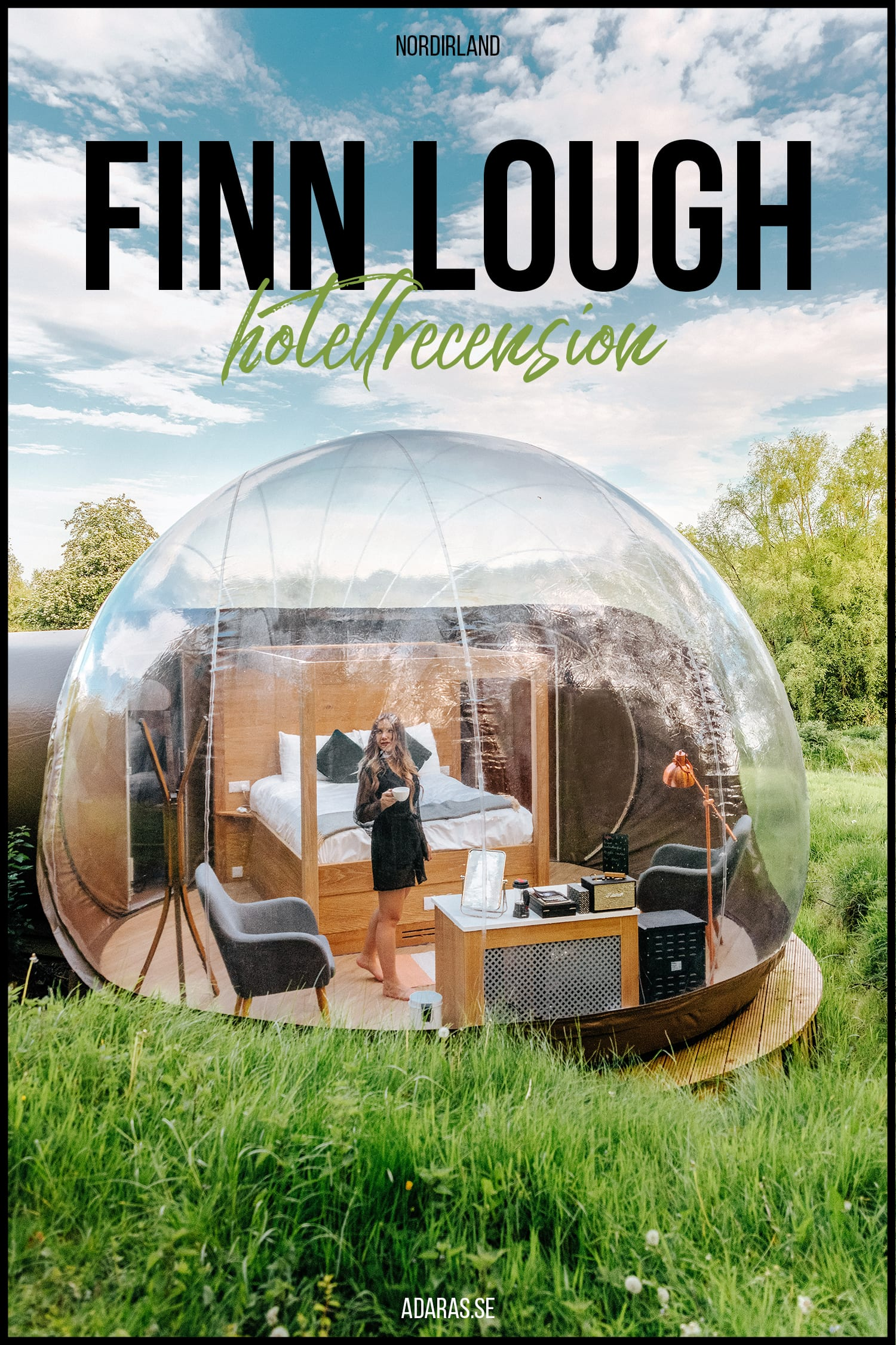 Finn Lough Resort - Bo i en bubbla på Nordirland | Recension av Bubbelhotell