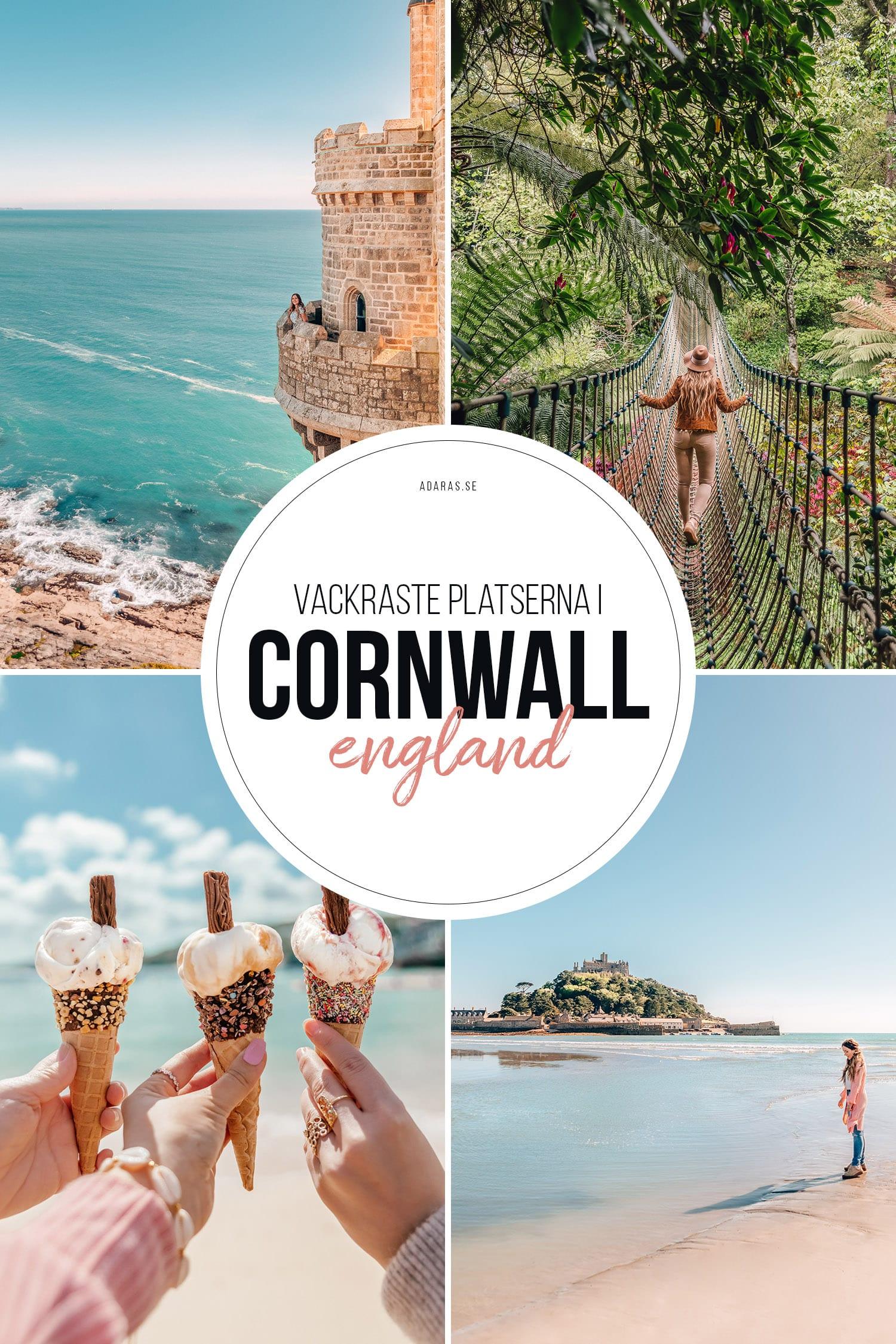 Guide till vackra Instagramplatser i Cornwall, England
