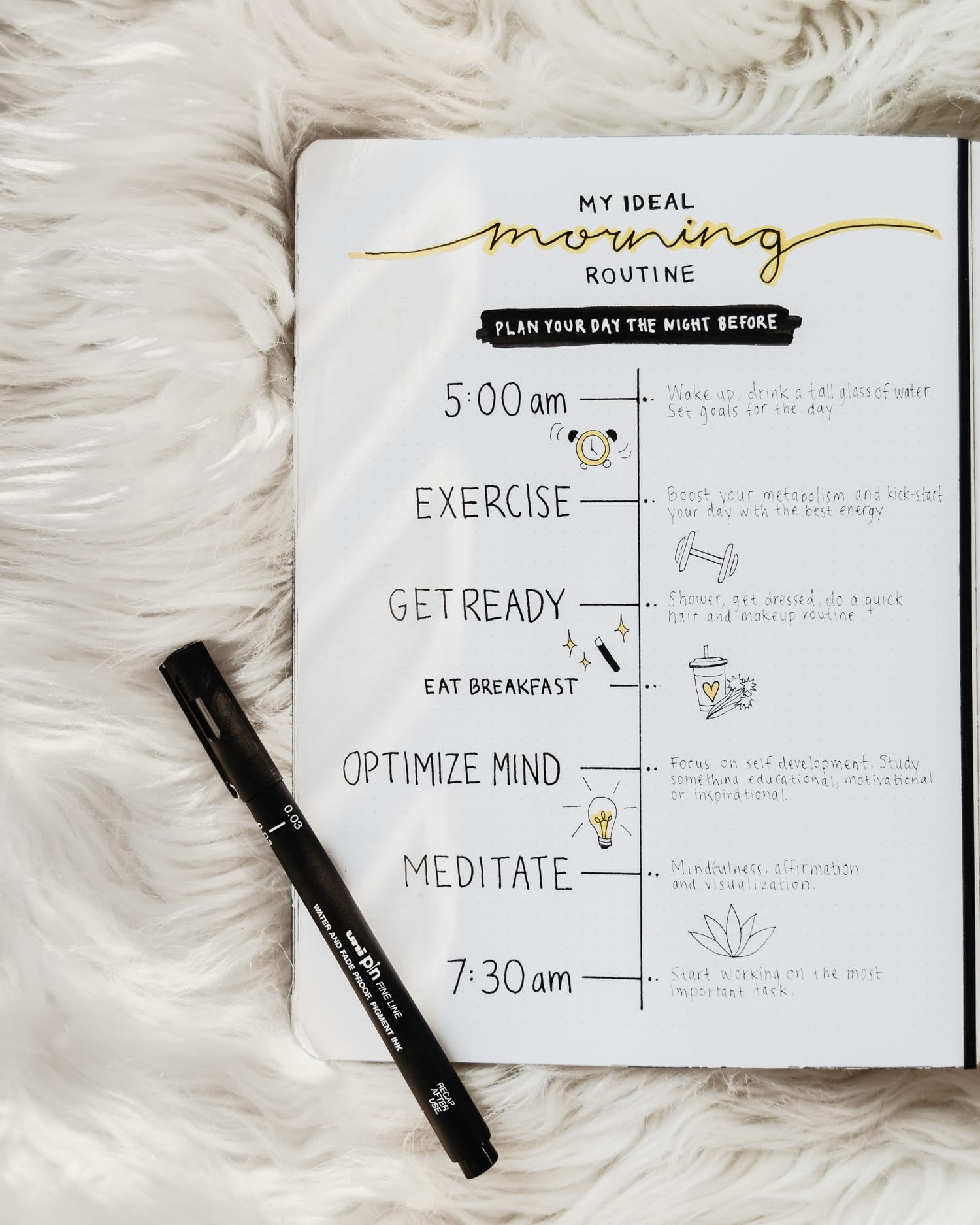Bullet Journal - Min ultimata morgonrutin