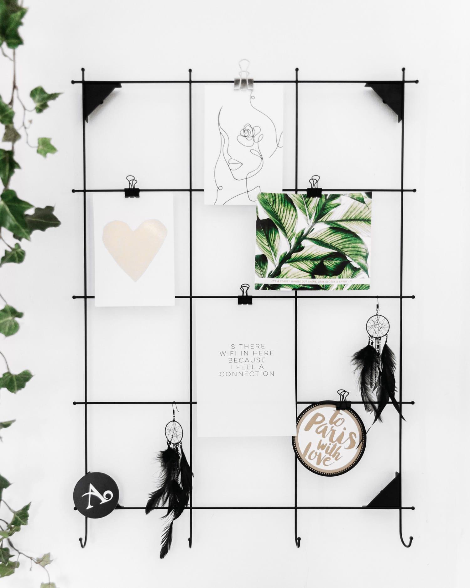 Anslagstavla i metallnät - Hemmakontor i Skandinavisk design