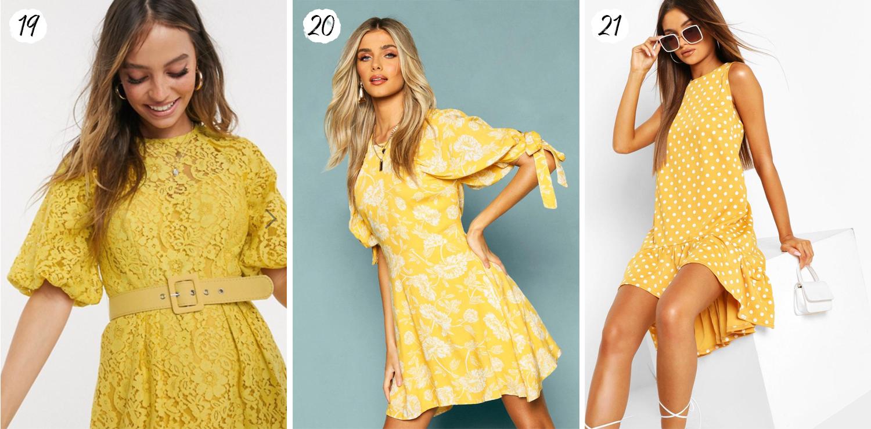 Korta gula klänningar 2020