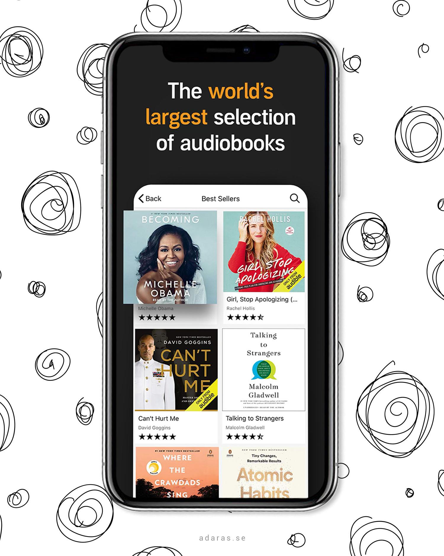 Audible - Få tillgång till världens största ljudboksbibliotek