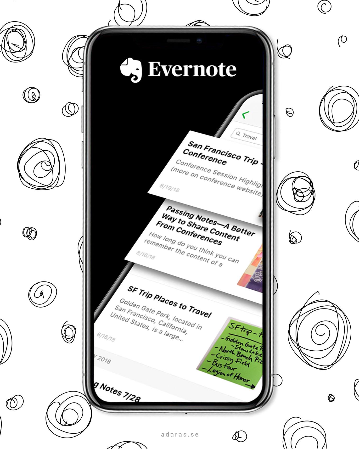 Evernote - Bästa anteckningsappen
