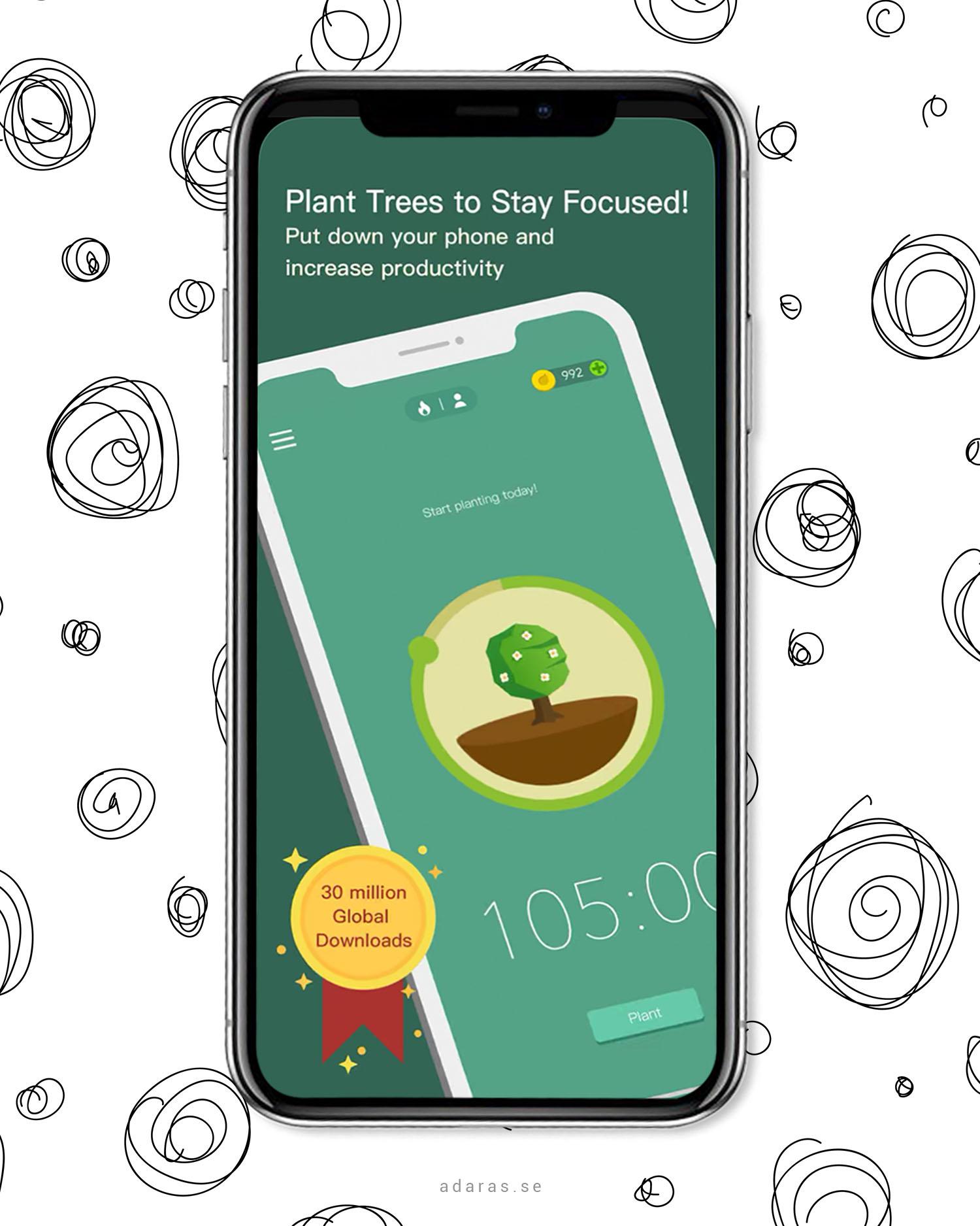 Forest - Var produktiv och plantera träd på samma gång |Tips på geniala produktivitetsappar