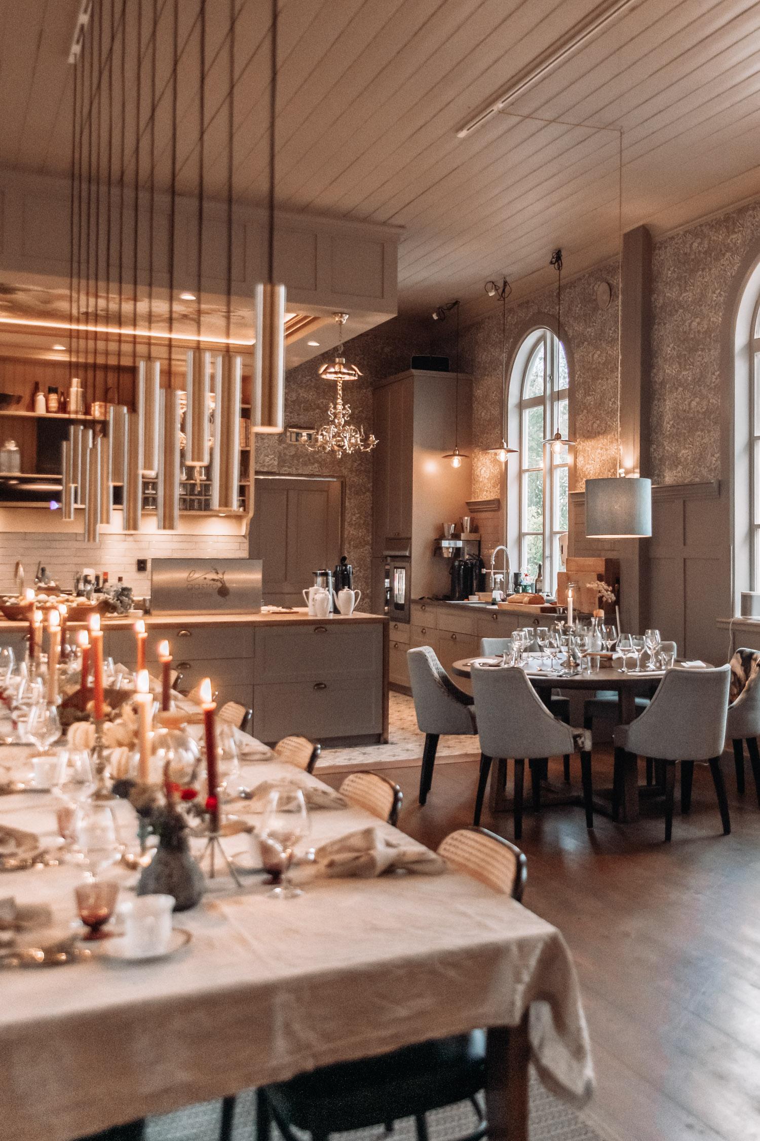 Elegant inredning i Egastronomi – matstudio och restaurang i Kumla