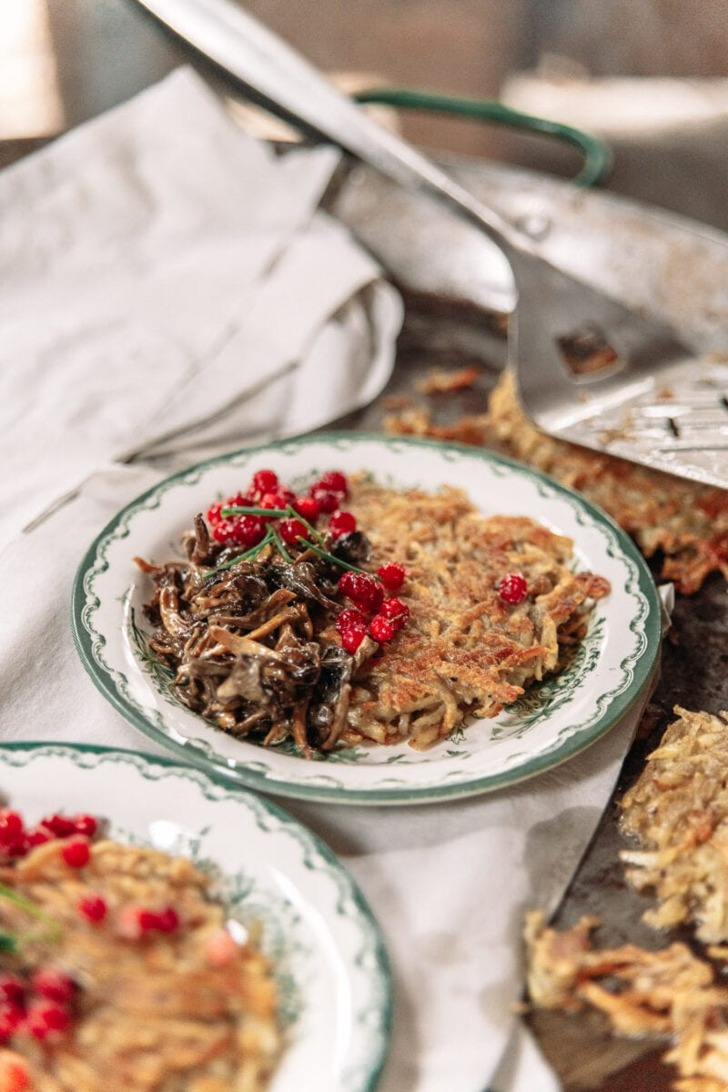 Råraka med svamp och lingon, Ströms Catering