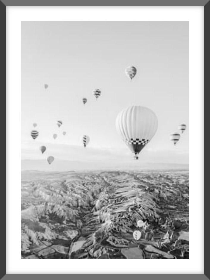 Cappadocia - B&W Fairytale No2 Poster